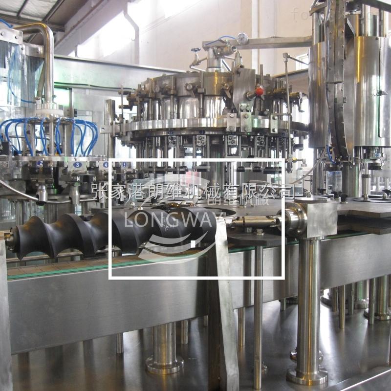 玻璃瓶皇冠盖饮料灌装机/啤酒等压灌装线