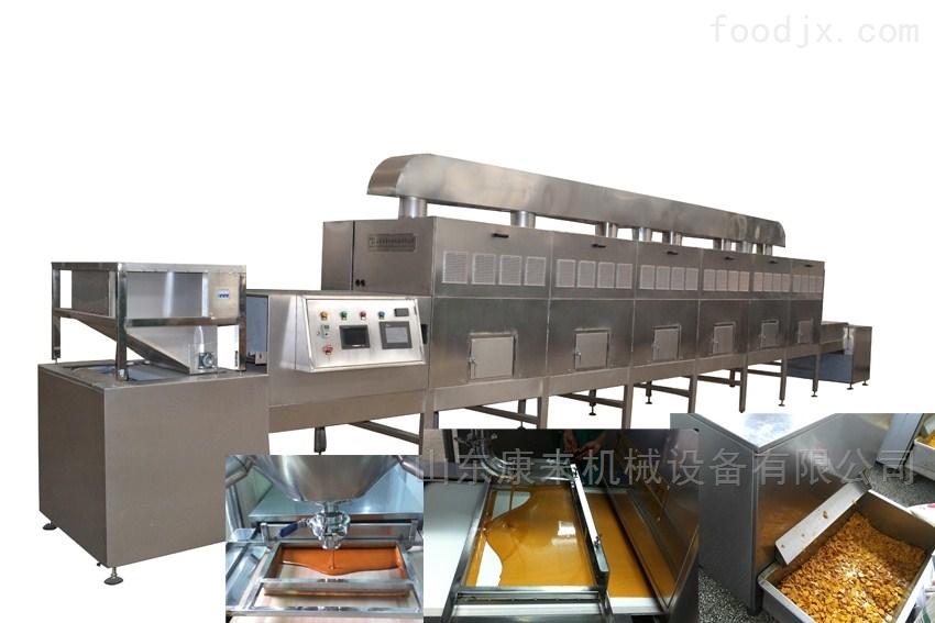 海鲜虾烘烤熟化设备,微波设备厂家
