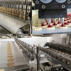 蛋挞饼干成套设备 软曲奇巧克力饼干机 巧克力注心饼干生产线