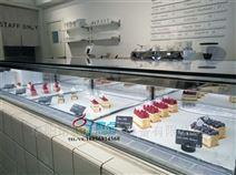 吧台甜品冷藏柜,直角蛋糕展示柜
