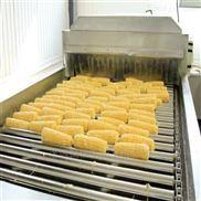内蒙古甜玉米加工清洗漂烫流水线