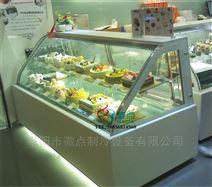 弧形蛋糕保鲜柜定做 双层弧形吧台甜品柜