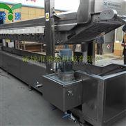 LY-8.5-全自动连续豆干油炸流水线  豆泡油炸机 豆制品油炸设备哪有卖的