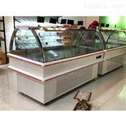 批發烏魯木齊超市雙面開門熟食展示柜