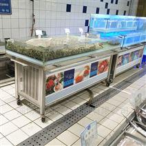 瑞杰厨具供应贝类池,水产冰台