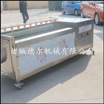 德尔厂家直销潍县萝卜全自毛辊清洗机
