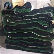 绿色加裙边挡板输送带
