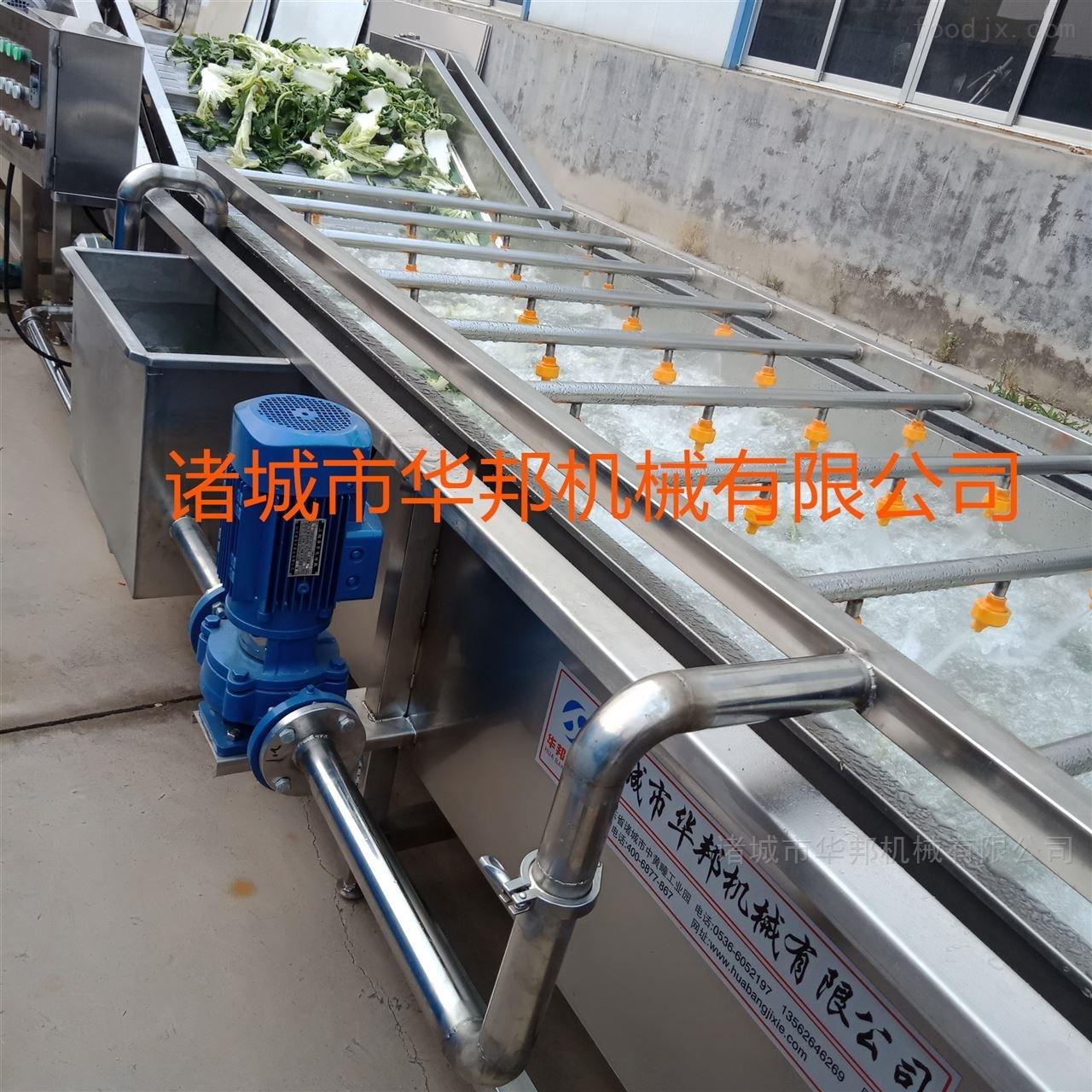 华邦净菜加工设备 果蔬清洗流水线的使用