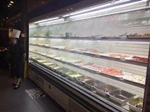 超市立式水果风幕柜