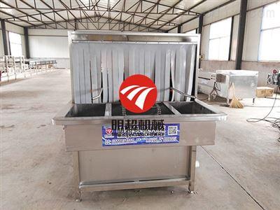 ZZXQXJ-5周转箱清洗机价格 食品塑料筐清洗机连续清洗烘干