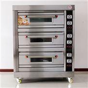 电热型三层六盘面包蛋糕烤箱