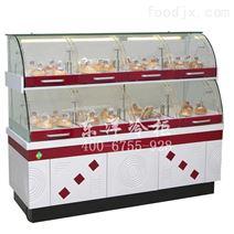 豪华的边岛面包柜-面包展示柜-弧形蛋糕柜