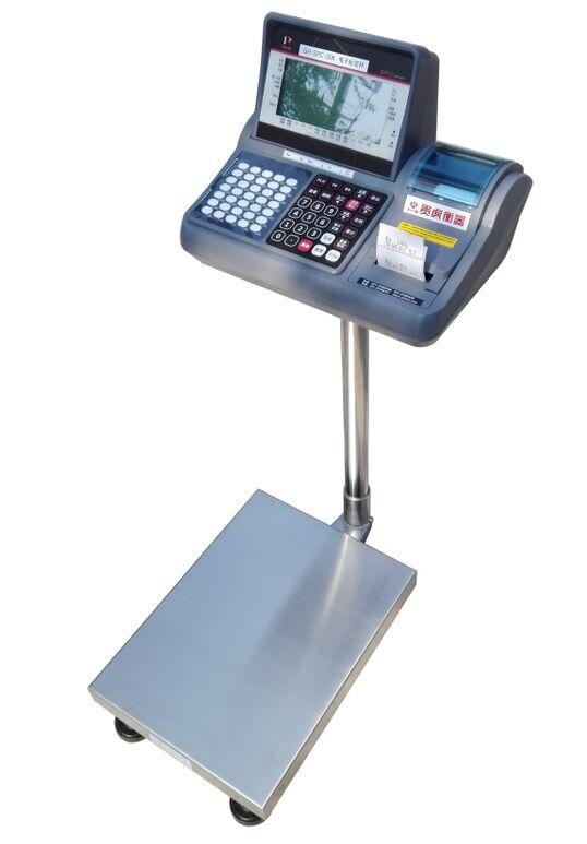 100公斤物料秤可不干胶打印和上下限报警